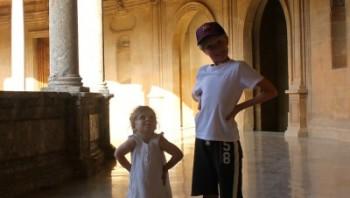 Goofing around in El Palacio de Carlos V